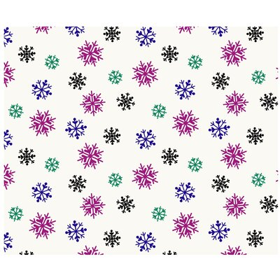 Pointehaven Heavy Weight Snow Flakes Printed Flannel Sheet Set