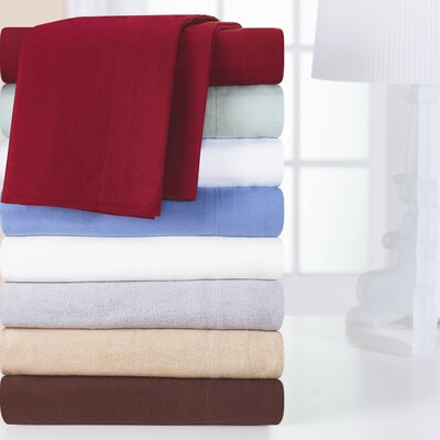 Pointehaven Heavy Weight Solid Flannel Sheet Set