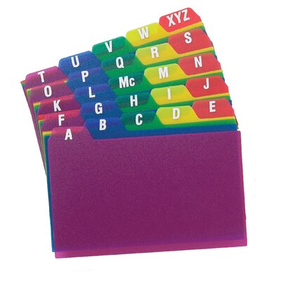 "Oxford® 3"" x 5"" A To Z Poly Index Card Guide"