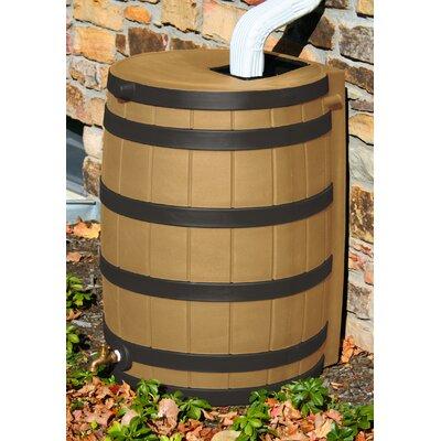 Rain Wizard 50 Gallon Rain Barrel with Darkened Ribs