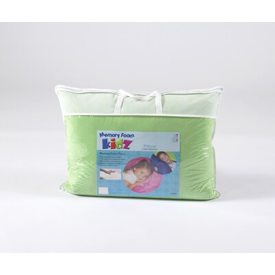 Memory Foam Kidz Standard Pillow in Green