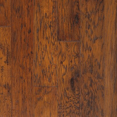 "CFS Flooring Rio Handscraped 4-9/10"" Engineered American Hickory Flooring in Bourbon"