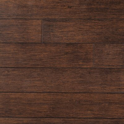 "Forest Valley Flooring Strand Woven 5"" Solid Bamboo Flooring in Cobra Brown"