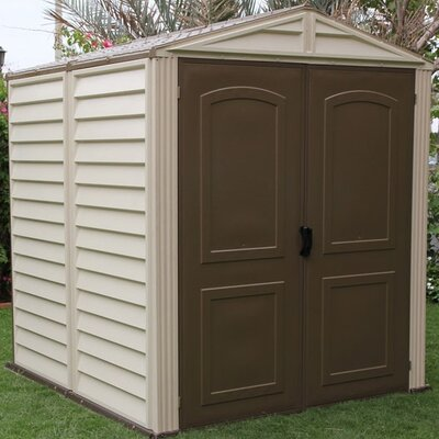 "Duramax Building Products StoreMate 6'1.62"" W x 6'1.82"" D Vinyl Storage Shed"