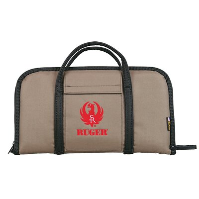 Allen Company Ruger Embroidered Attache Case in Tan / Black