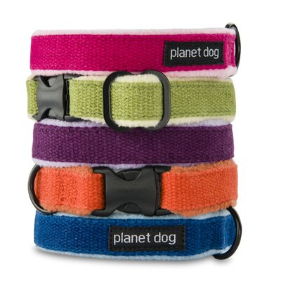 Planet Dog Cozy Hemp Adjustable Dog Collar