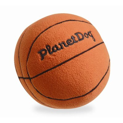 Planet Dog Squeaky Plush Basketball Dog Toy