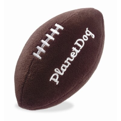 Planet Dog Squeaky Plush Football Dog Toy