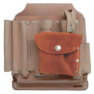 Heavy Top Grain Leather 9 Pocket Surveyor's Tool Pouch