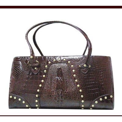 Faux Leather Handbag Pet Carrier in Deep Brown