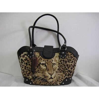 Backbone Pet Faux Suede Handbag Pet Carrier in Leopard Visions