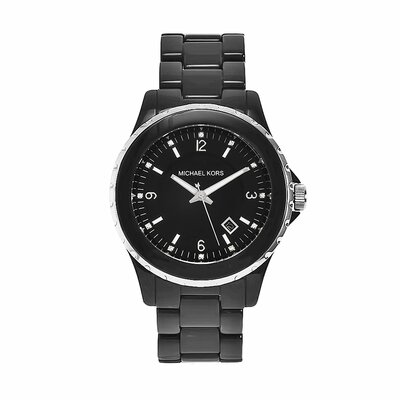 Michael Kors Women's Classic Black Acrylic Watch