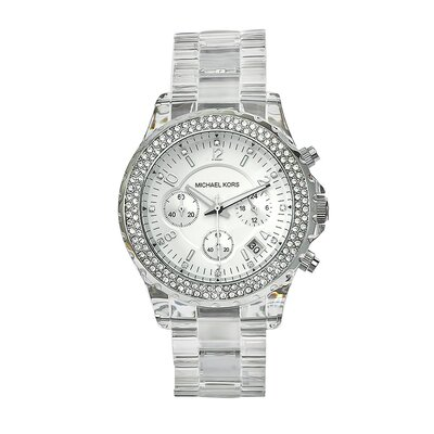 Michael Kors Women's Clear Plastic Watch