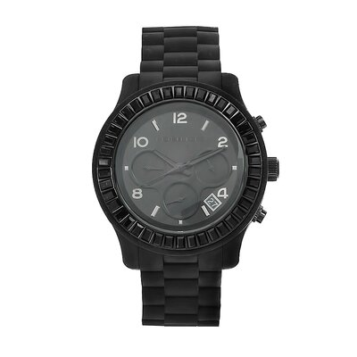 Women's Black Rubber Bracelet Watch