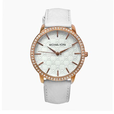 Michael Kors Women's Classic Watch in White and Gold