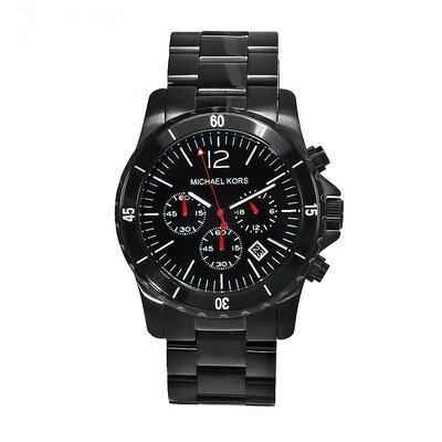 Men's Black Ion Plated Stainless Steel Watch
