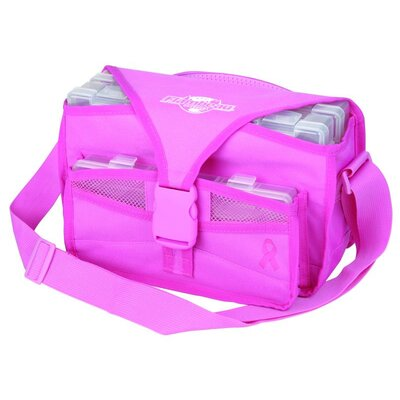 Flambeau Kwikdraw Soft Side Tackle Bag with Pink Ribbon