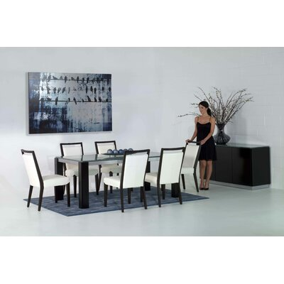 Veronica Dining Table with Crackle Glass