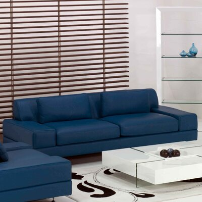 Domicile Flat Leather Sofa