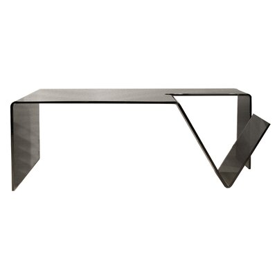 Star International Gomito Bent Coffee Table with Magazine Shelf