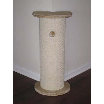 "Go Pet Club 29"" Corner Cat Tree/Scratcher in Beige"