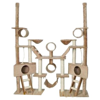Go Pet Club Huge Multi-Condo Cat Gym in Beige