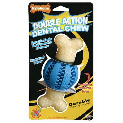 Nylabone Double Action Dental Chew Ball Dog Toy