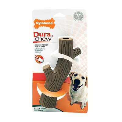 Nylabone Durachew Hollow Stick Bacon Dog Toy