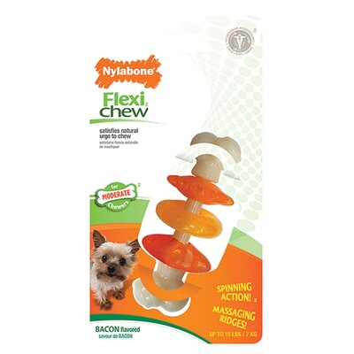 Nylabone Chew Click Clack Bone Bacon Petite Dog Toy
