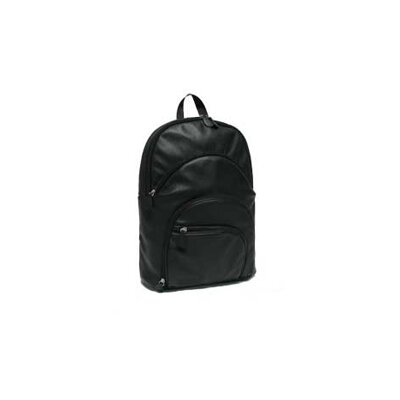 AmeriBag Catskill Collection Highpoint Black Leather Backpack