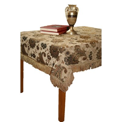 Chenille Paisley Design Tablecloth