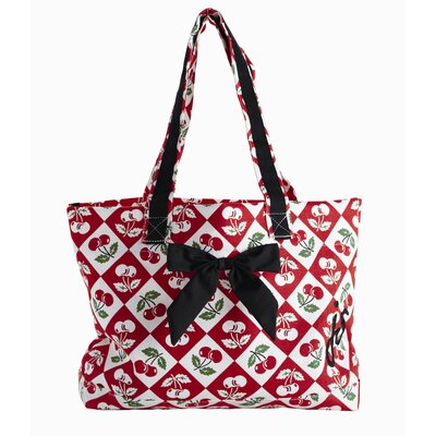 Diamond Cherries Tote Bag