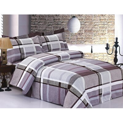 French Lavender Plaid Luxurious Duvet Set (Set of 6)