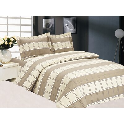 French Plaid Luxurious Duvet Set (Set of 6)