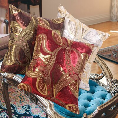 Marvelous Vintage Embroidered Sequins Decorative Cushion Cover
