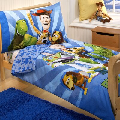 Disney Baby Bedding Toy Story Woody and the Gang 4 Piece Toddler Bedding Set