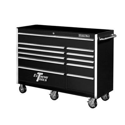 "Extreme Tools 56"" 11 Drawer Professional Roller Cabinet in Black"