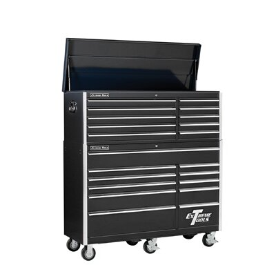 "Extreme Tools 56"" Combo Tool Chest and Roller Cabinet in Black"