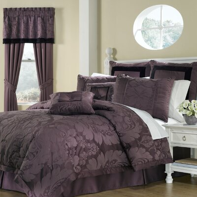 Lorenzo 8 Piece Comforter Set in Purple
