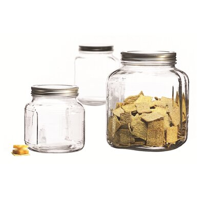 Anchor Hocking 3 Piece Cracker Jar Set