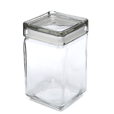 Anchor Hocking 1.5-qt Stackable Glass Jar with Glass Lid