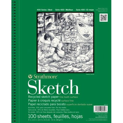 """Strathmore 400 Series 3.5"""" x 5"""" Wire Bound Recycled Sketch Pads"""