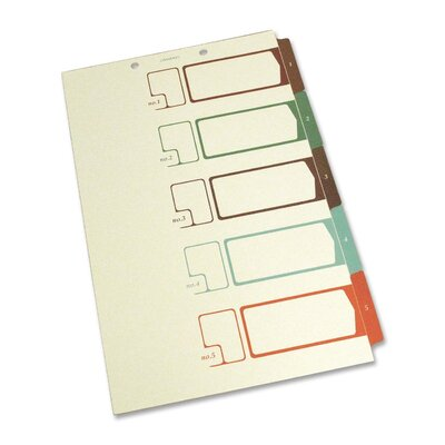 S J Paper Speedex Side Tab TOC Divider