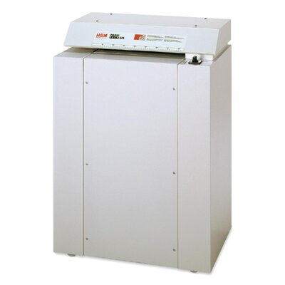 "HSM of America,LLC CardBoard Shredder, Shreds 2-3 Layers, 27-1/2""x18-9/10""x38"", White"