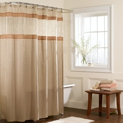 Maytex Buena Vista Polyester Fabric Shower Curtain