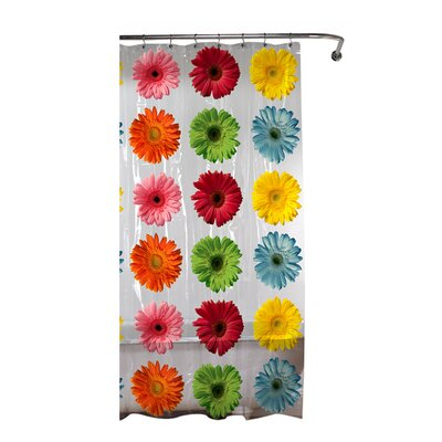 Gerber Daisy PEVA Vinyl Shower Curtain