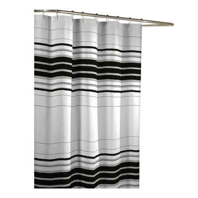 Racer Stripe Polyester Fabric Shower Curtain