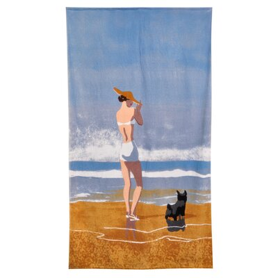 Home Source International Conde Nast Beach Girl Dog Beach Towel