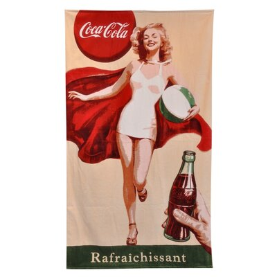 Home Source International Coke Retro Girl Beach Towel