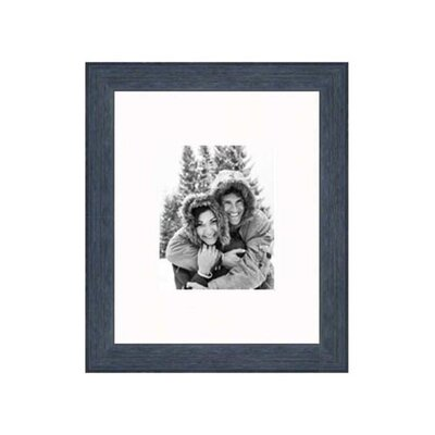 "Frames By Mail 16"" x 20"" Rustic Wire Brush Frame in Black"